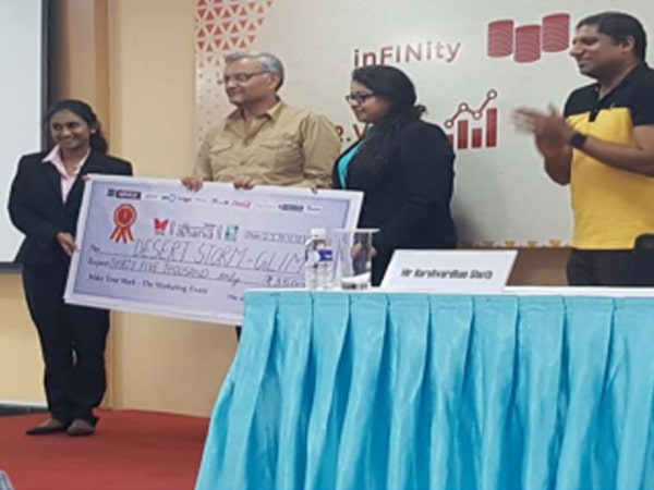 1st Prize Make Your Mark - Marketing Event TAPMI