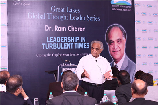 Dr. Ram Charan at Great Lakes Global Thought Leader Series